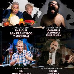 Los mejores cómicos del panorama nacional actuan este mes de septiembre en Alicante