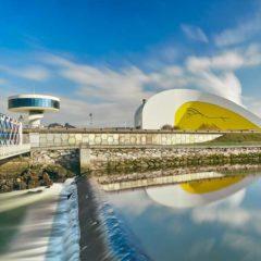 Centro Niemeyer. Reflejos de Asturias en Biblioteca Pública Municipal Joaquín Rodríguez