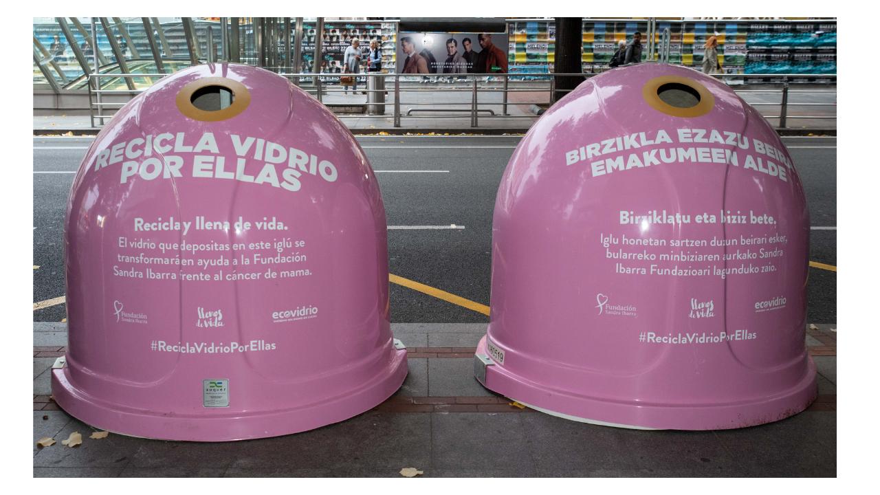'Recicla vidrio por ellas', la campaña que fusiona la prevención del cáncer de mama y el reciclaje