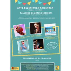 El programa de Artes Escénicas para Público Familiar pone en marcha cinco talleres nuevos