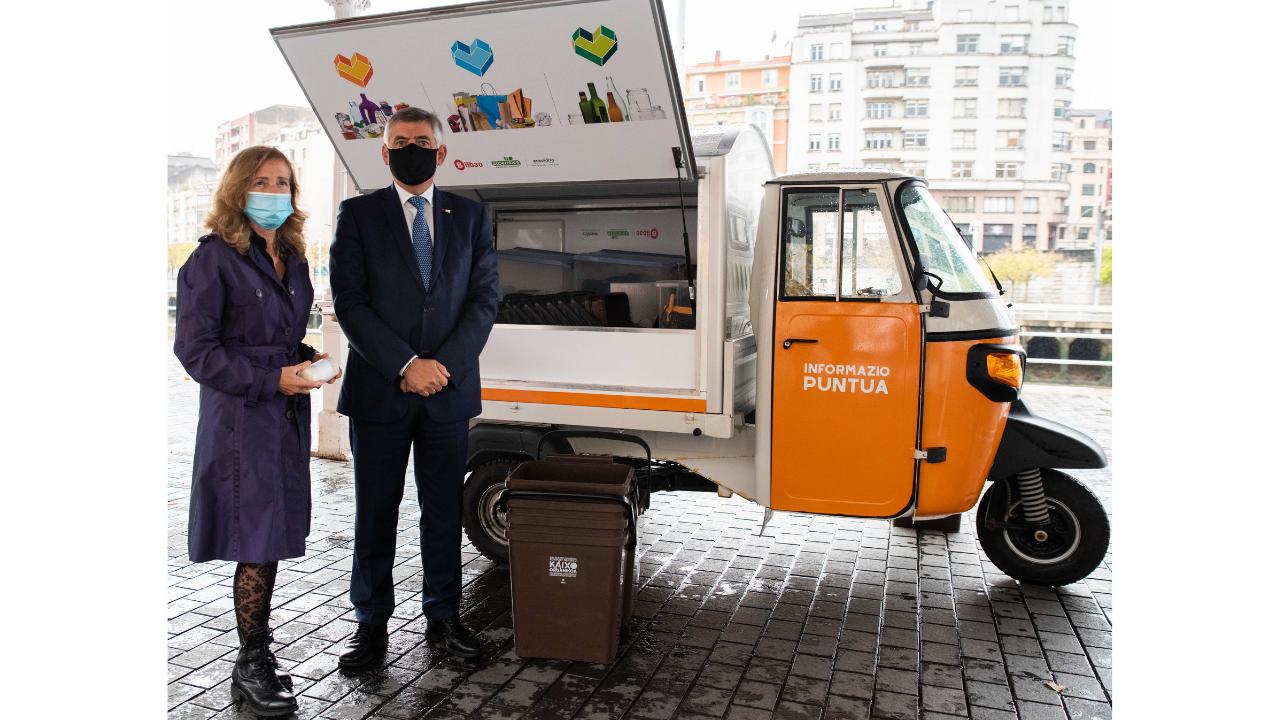 El motocarro del reciclaje, la última campaña de reciclaje del Ayuntamiento de Bilbao