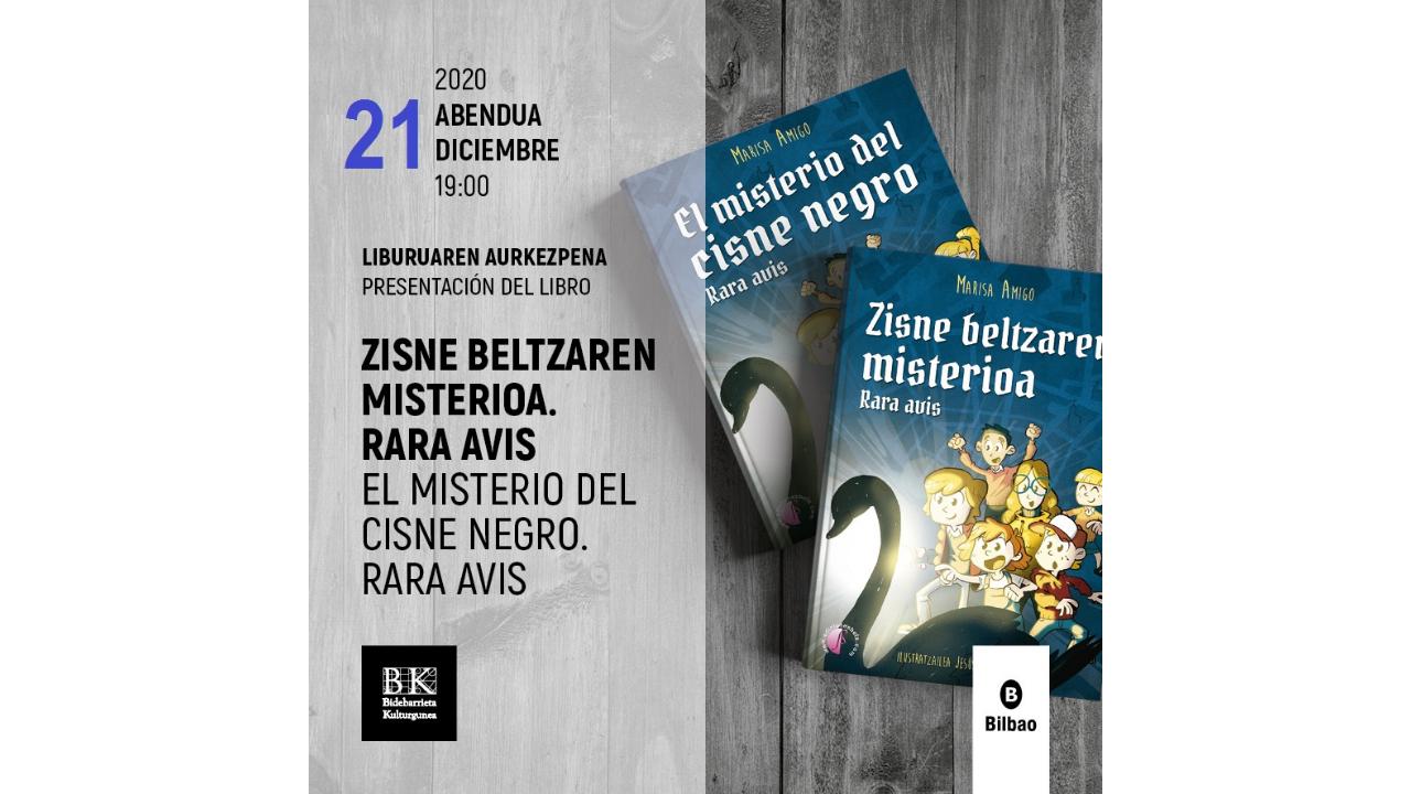 La presentación de «El misterio del cisne negro. Rara Avis» se traslada al 21 de diciembre