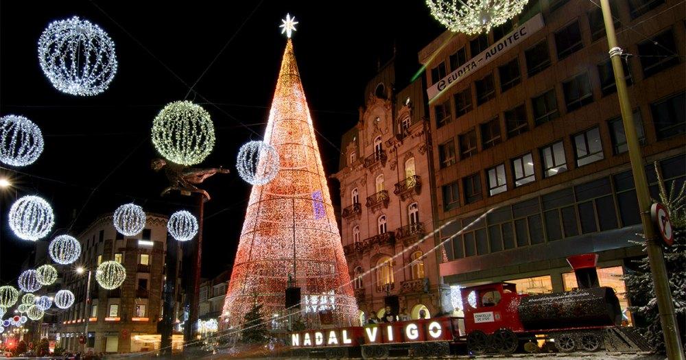 Árbol programación navidad Vigo