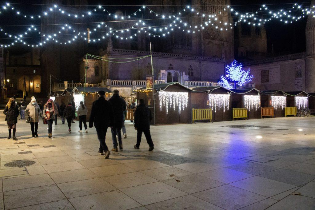 Mercado navideño en Burgos
