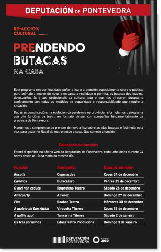 Prendendo butacas, teatro familiar en streaming