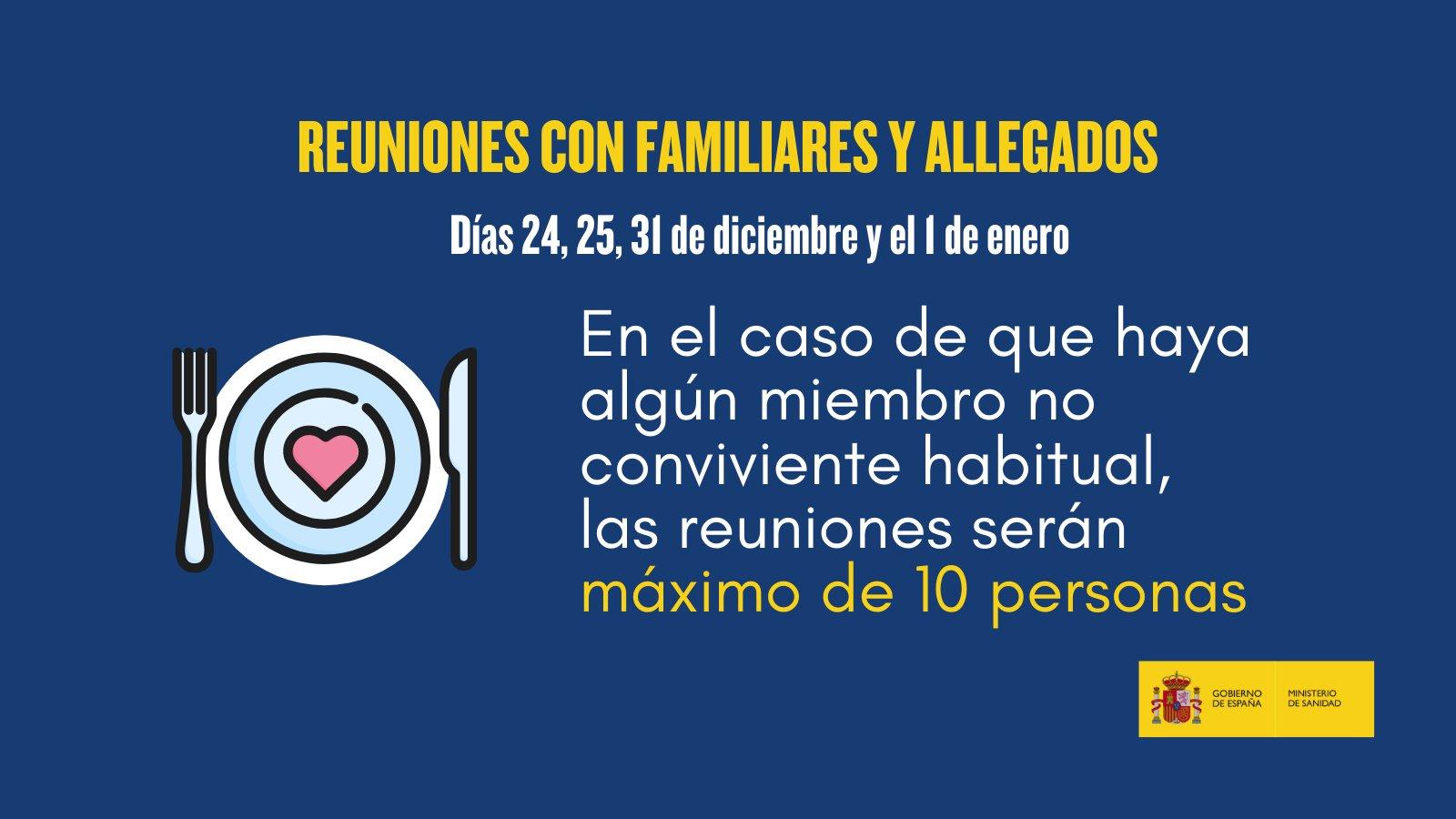 Navidad Covid, medidas, restricciones y recomendaciones de Sanidad en Andalucía - reuniones familiares y allegados máximo 10 personas