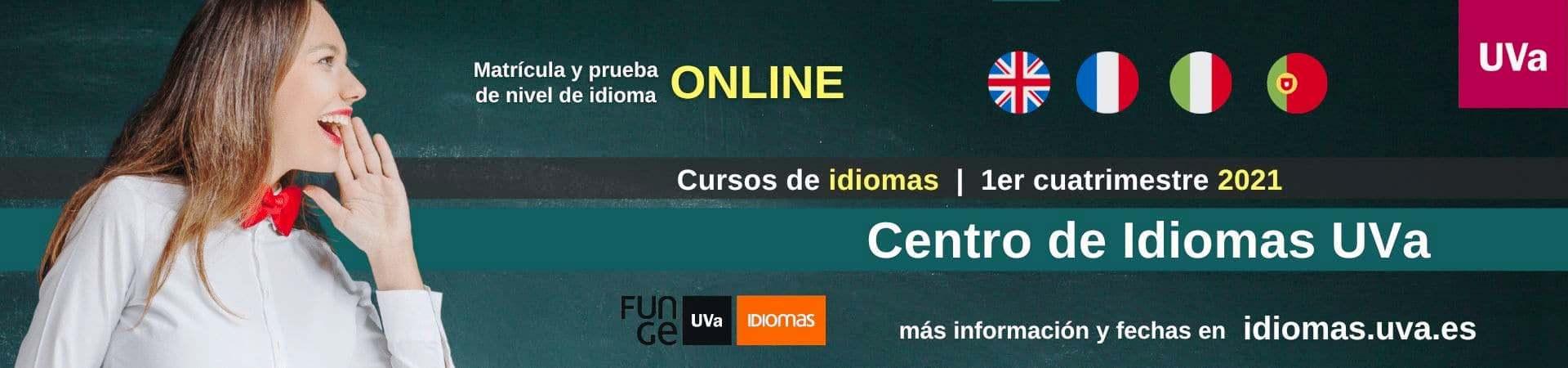 Banner cursos de idiomas UVa 1er cuatrimestre 2021