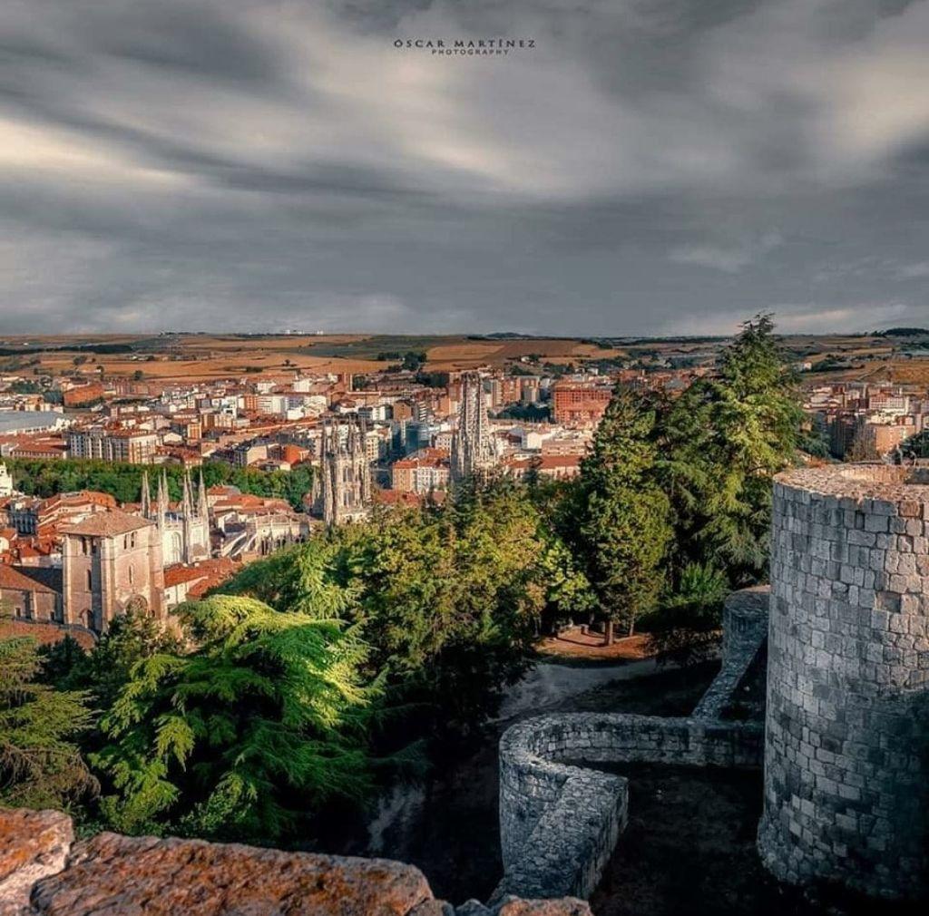Castillo y mirador. monumentos de Burgos
