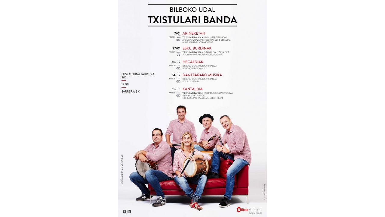 La Banda Municipal de Txistularis recreará el sonido de las aves