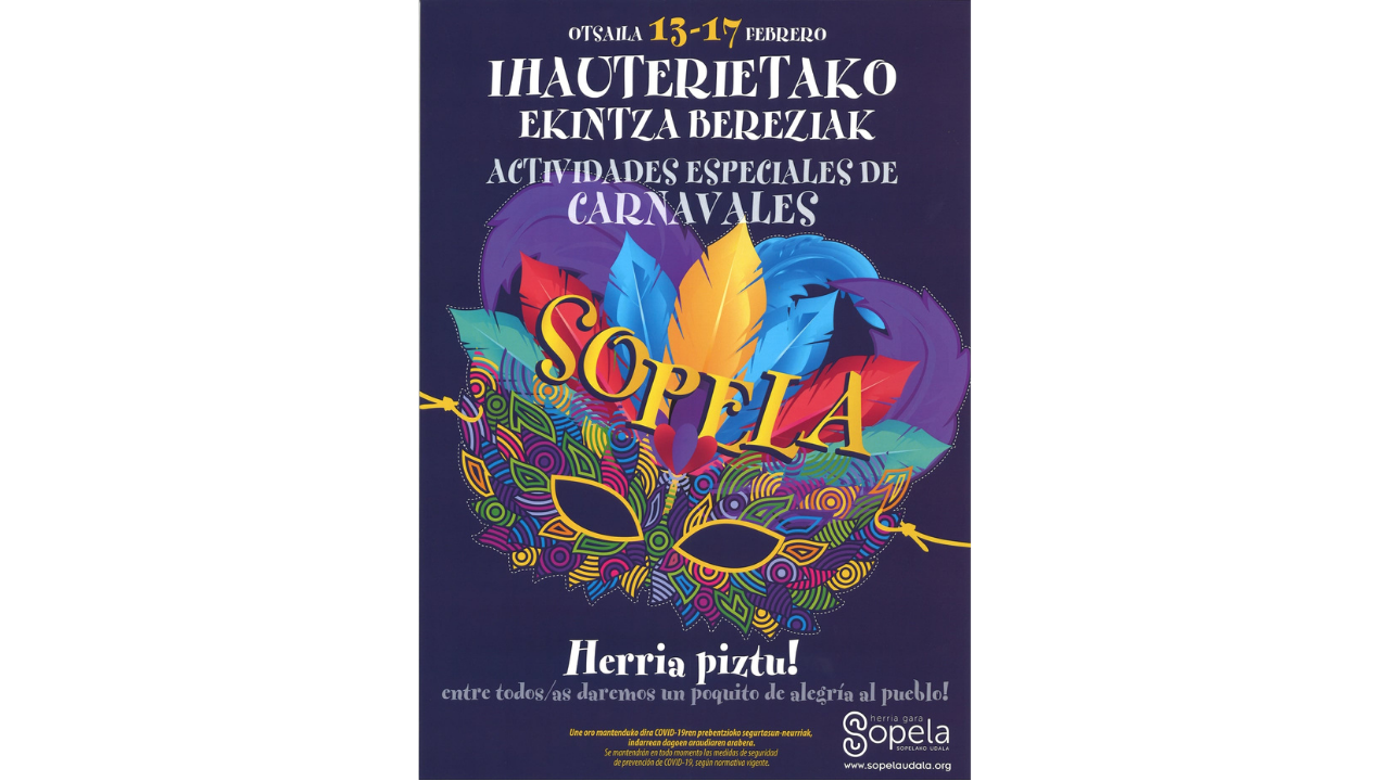 Inscríbete en las actividades de Carnaval de Sopela