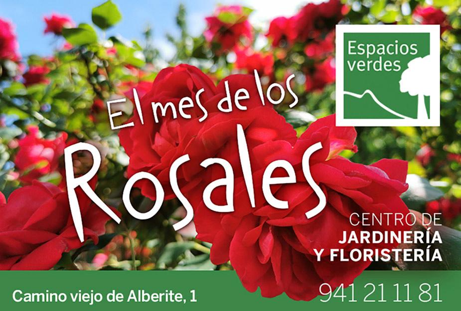 Mes de los rosales en Espacios Verdes