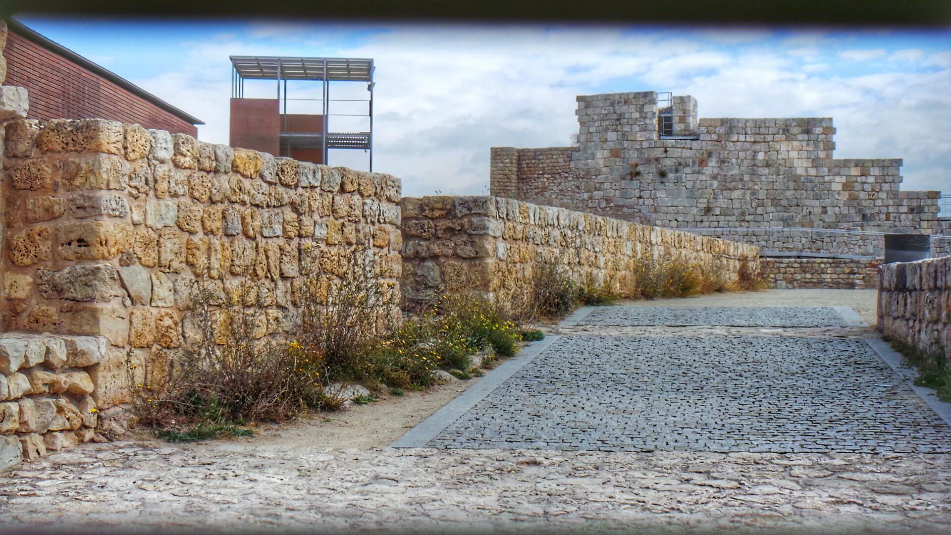 Imagen desde el interior del Castillo de Burgos