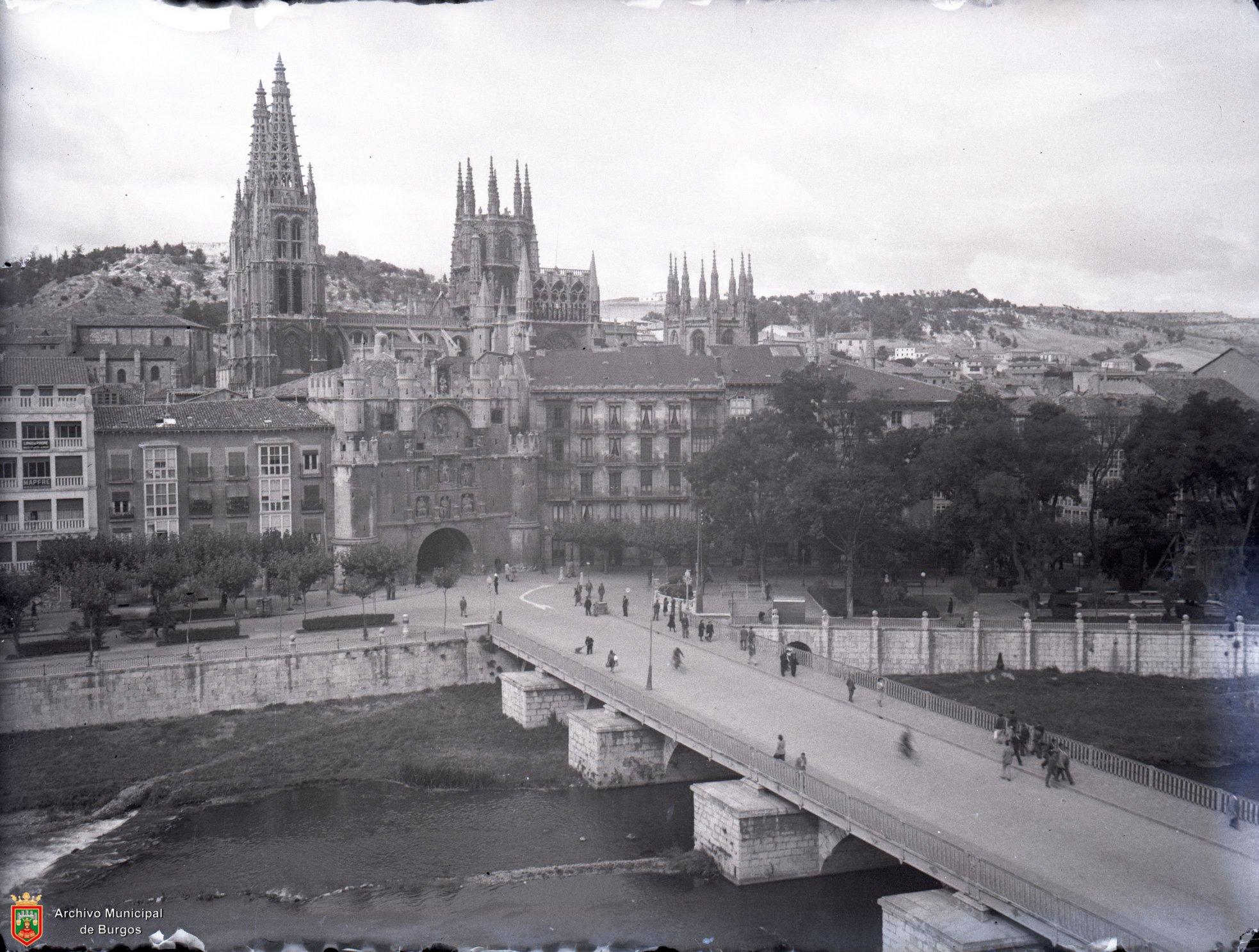 Fotografias antiguas de Burgos. Vista general