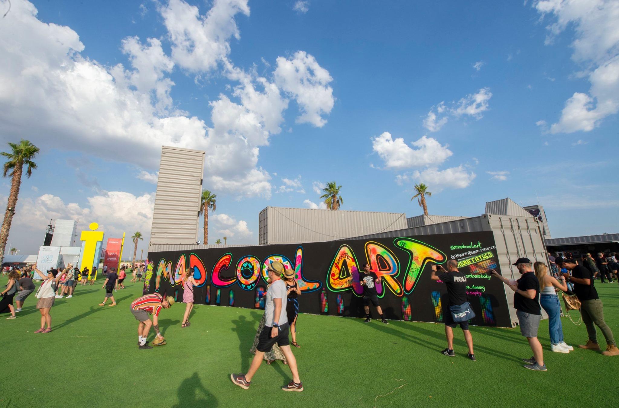 Zona artística y de graffiti del festival Mad Cool en Madrid