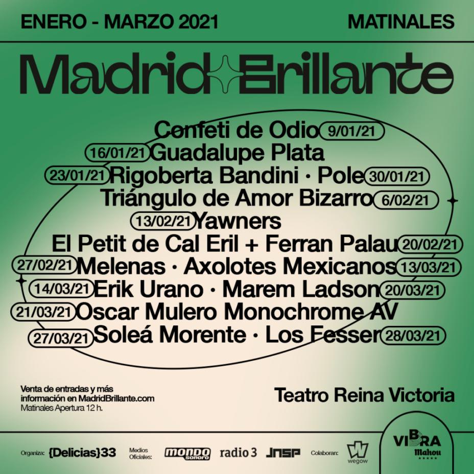 Festival: Madrid Brillante 2020 en Teatro Reina Victoria