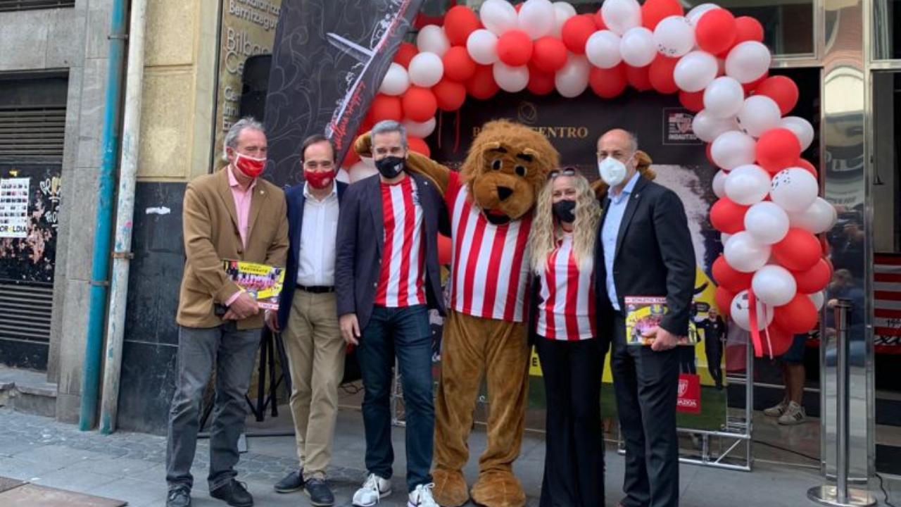 BilbaoCentro y Athletic Club dan inicio a las iniciativas comerciales por las finales de Copa