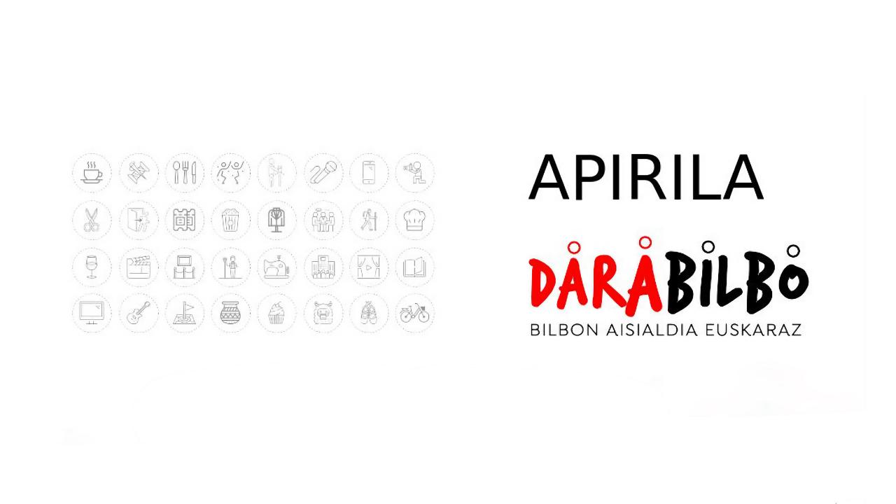 Las actividades para el mes de abril de 'Darabilbo' arrancan el viernes día 9