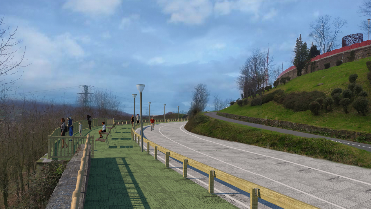 El nuevo Paseo Mirador de Artxanda tendrá más de seis kilómetros