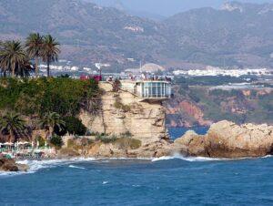 mejores playas Andalucía Balcon de Europa Nerja. Malaga