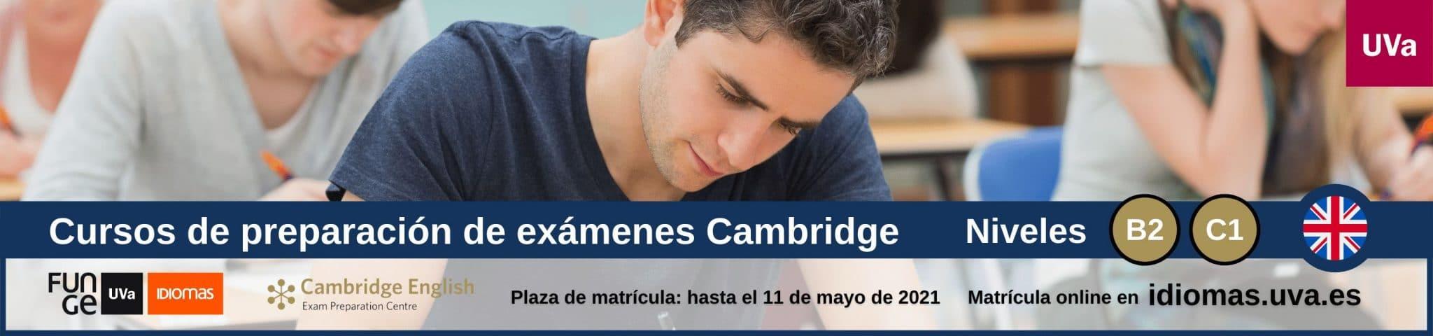 Banner cursos preparacion First Advanced Cambridge mayo junio julio 2021 Centro de Idiomas UVa 2048x480 1