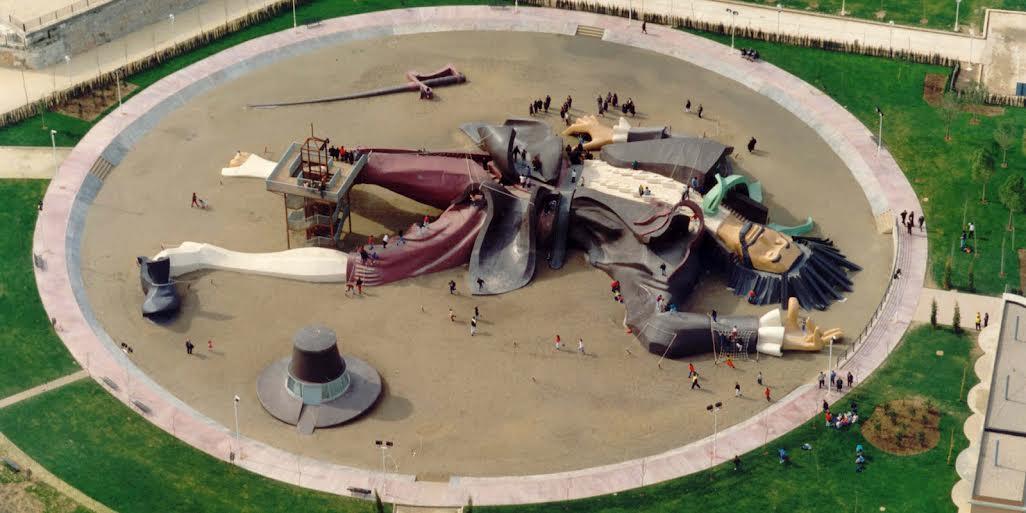 El Parque Gulliver en el Jardin del Turia