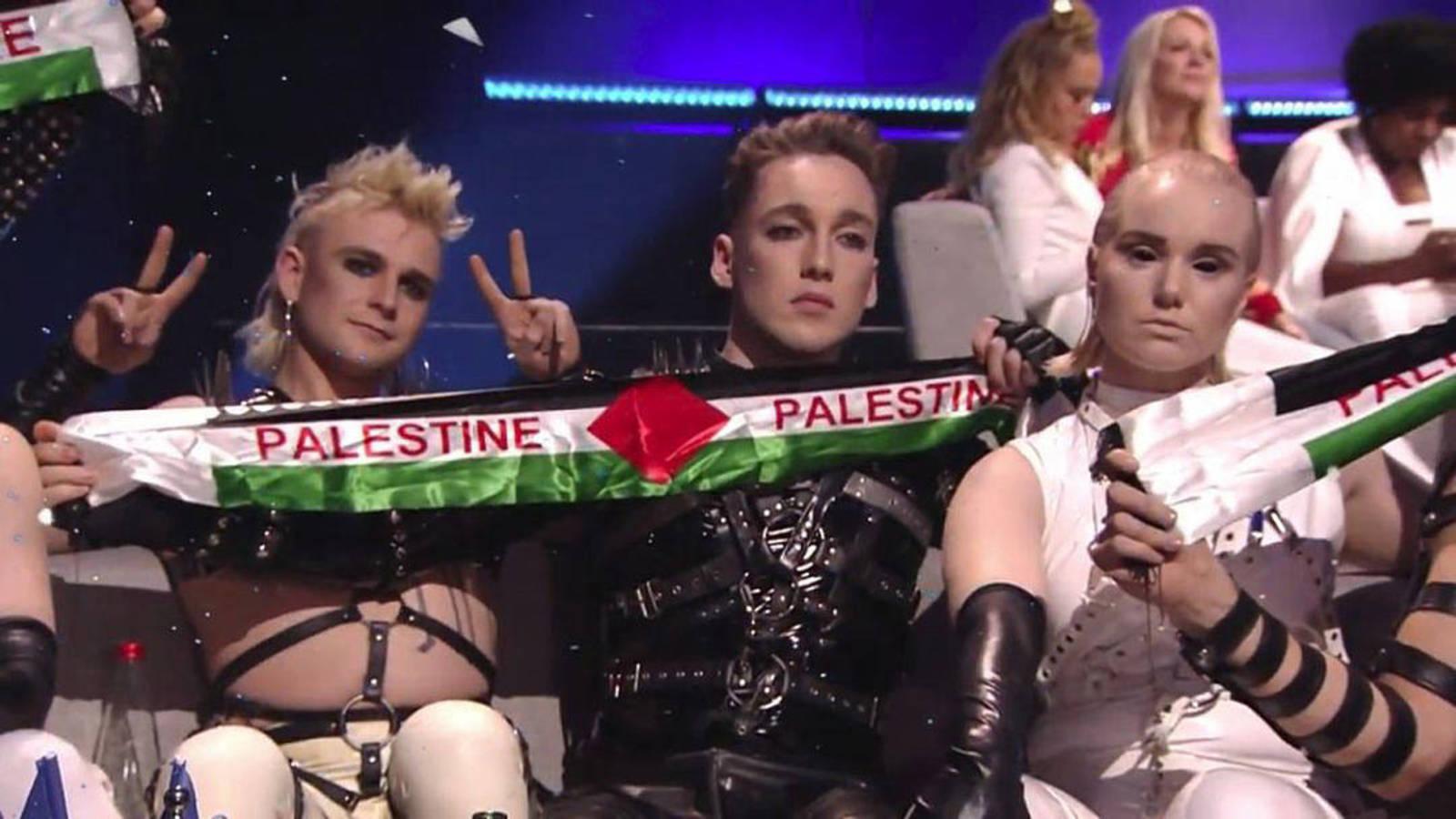 Islandia muestra la bandera de Palestina en Eurovision 2019 1