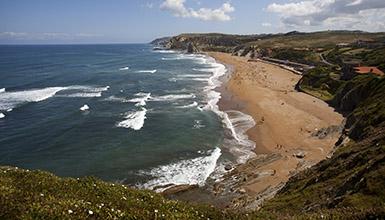 Playa de Sopela Arrietara y Atxabiribil Vizcaya en el País Vasco