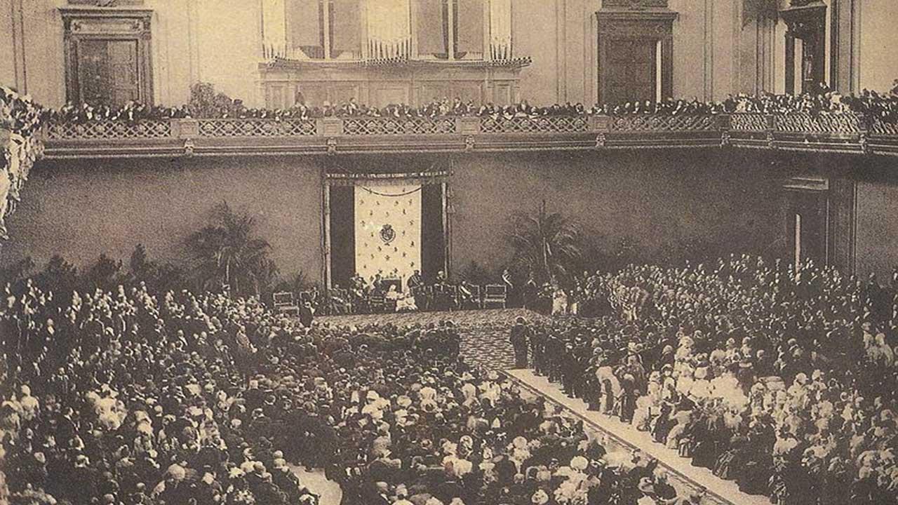 Acto de inauguracion de la Exposicion el 20 de mayo de 1888