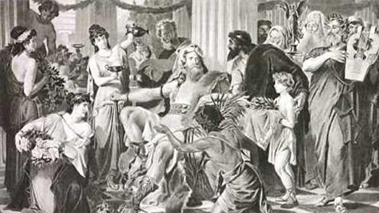 Alarico I pintura de Ludwig Thiersch