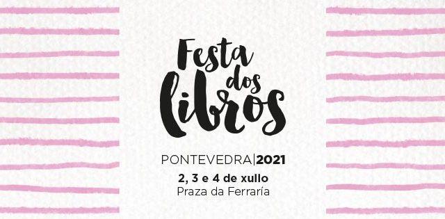 Festa dos libros en la praza da Ferraría de Pontevedra