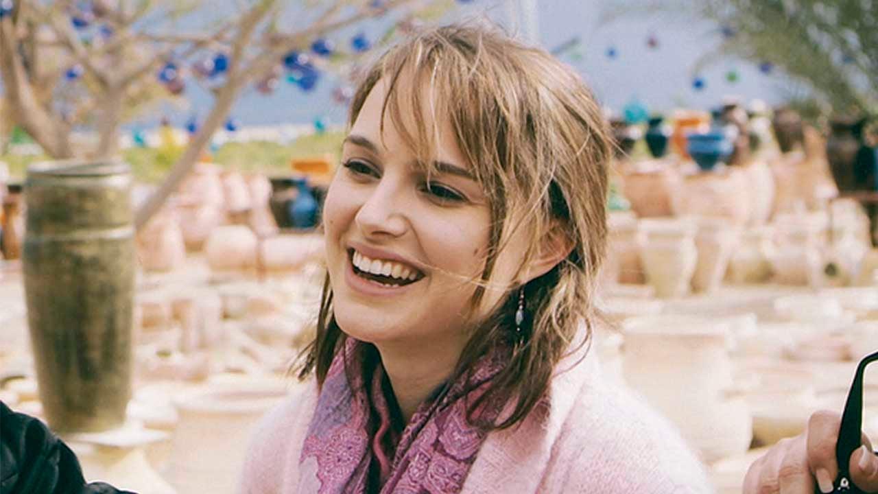Natalie Portman en el set de Free Zone en 2005.