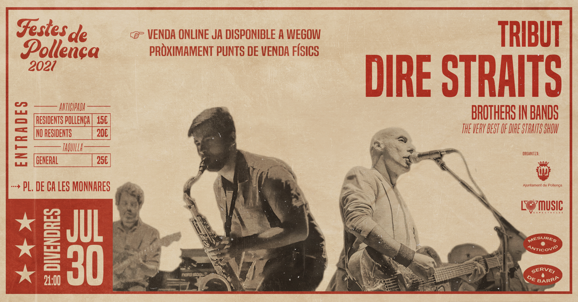 brothers in band tributo the dire straits en pollenca mallorca 16243605400141153