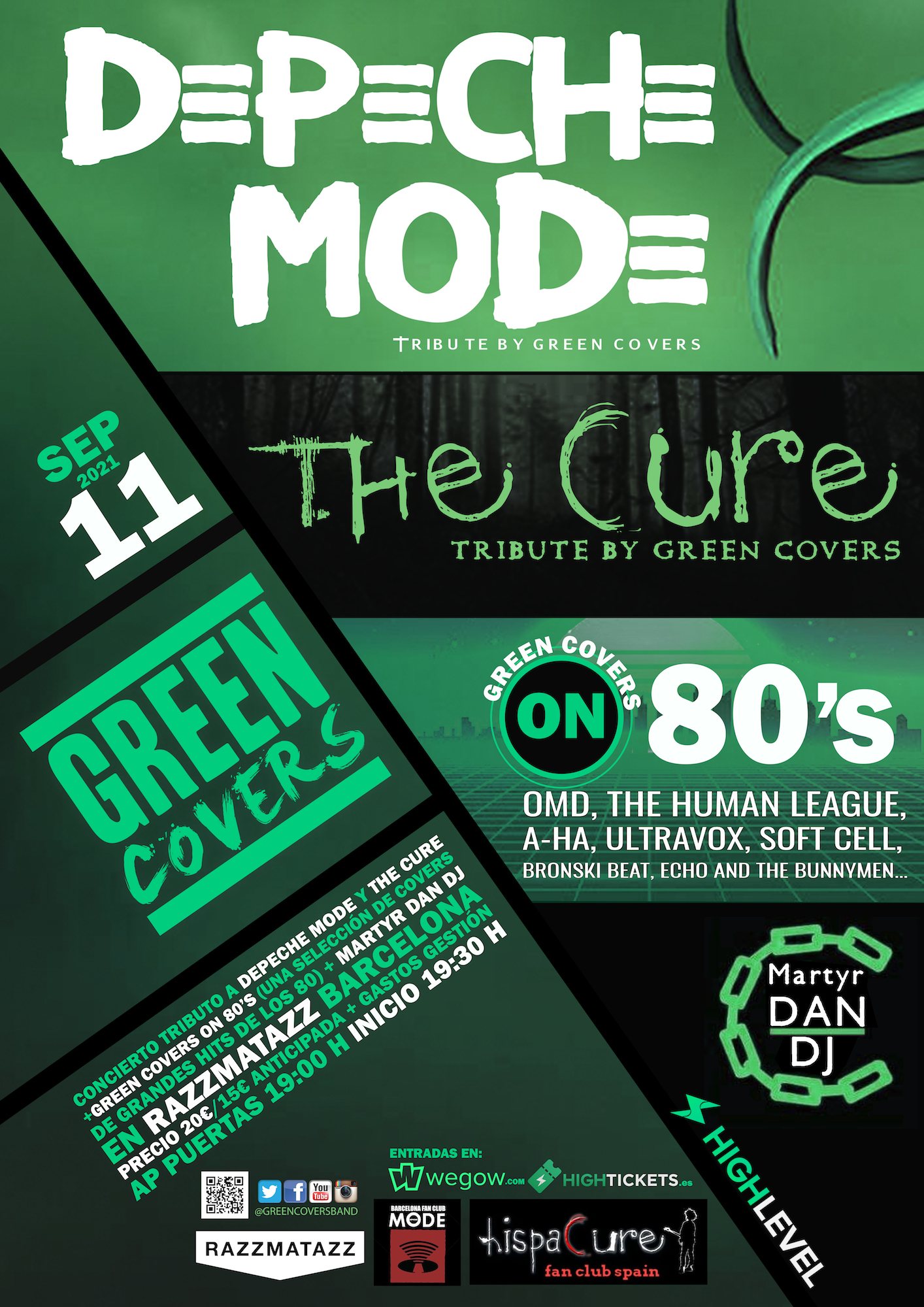 depeche mode the cure tribute by green covers barcelona 1624524211575914