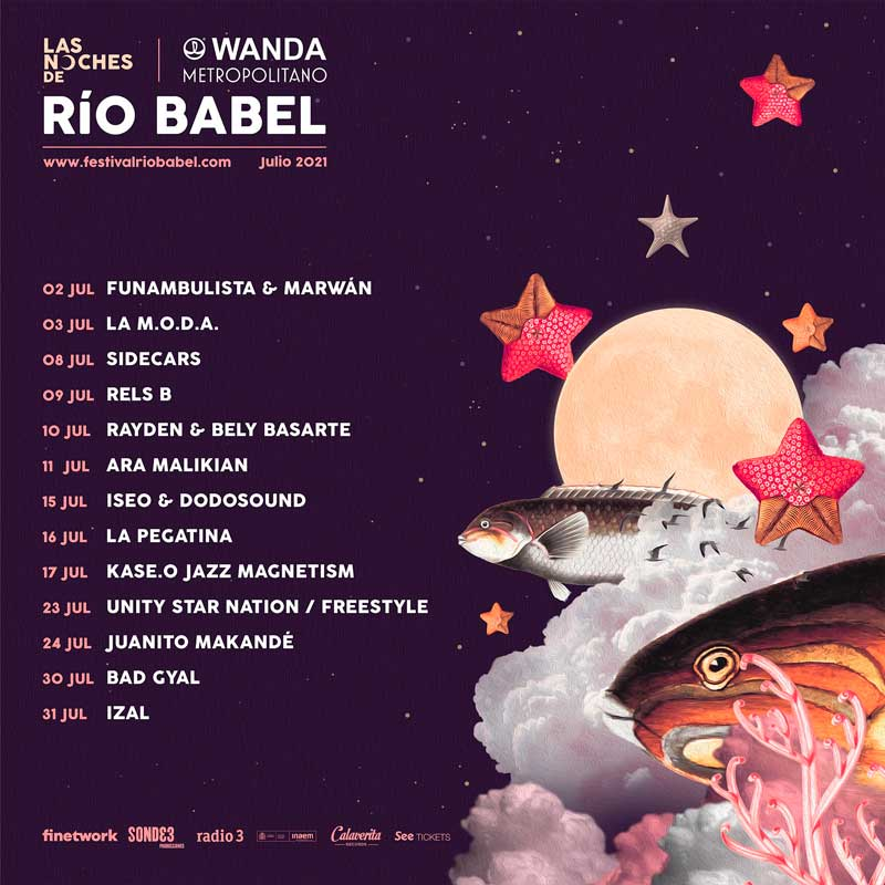 Concierto de Las noches del Río Babel 2021 en Estadio Wanda Metropolitano en Madrid