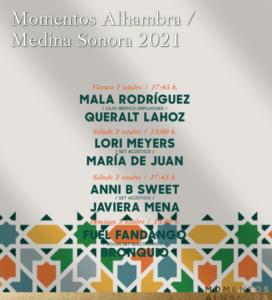 """Momentos Alhambra """"Medina Sonora"""" 2021 Córdoba, consigue aqui tu ENTRADA DOBLE"""