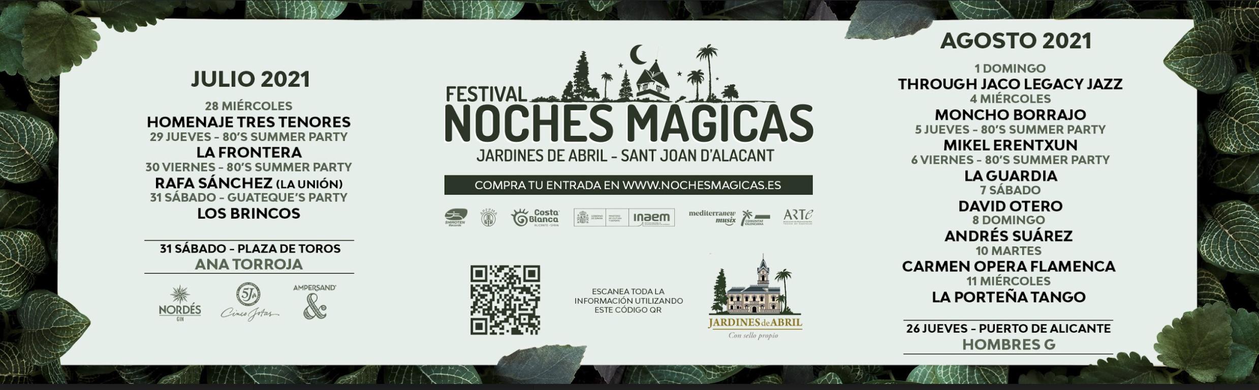 Compra ya tu entrada para uno de los conciertos del Festival Noches Mágicas