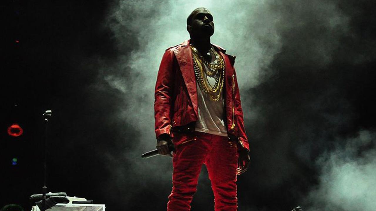 Kanye West en un Lollapalooza de Chile durante 2011.