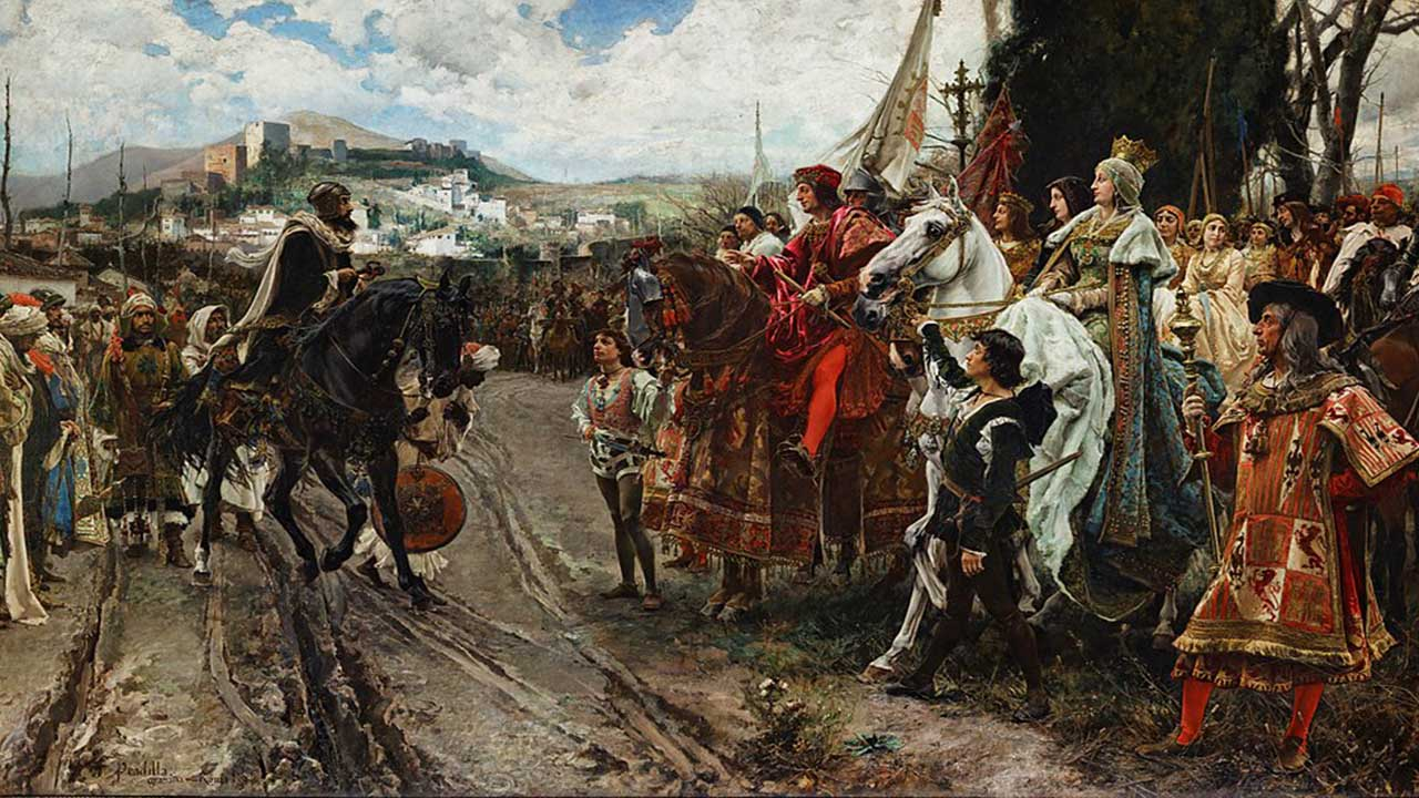La rendicion de Granada por Francisco Pradilla y Ortiz.
