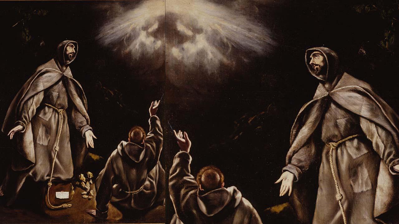 San Francisco en extasis de El Greco y taller h. 1600 1605.