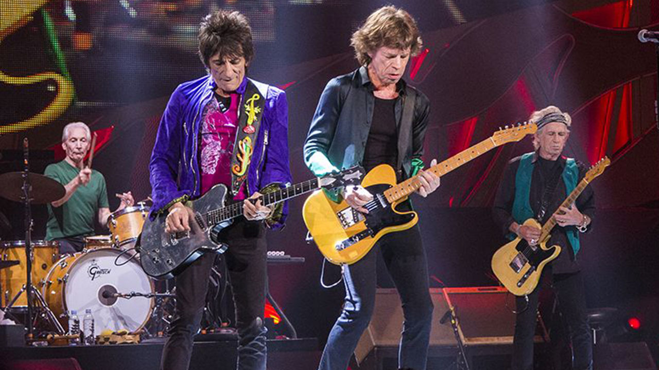 The Rolling Stones at Marcus Amphitheater in Milwaukee USA performing at Summerfest festival on June 23 2015.
