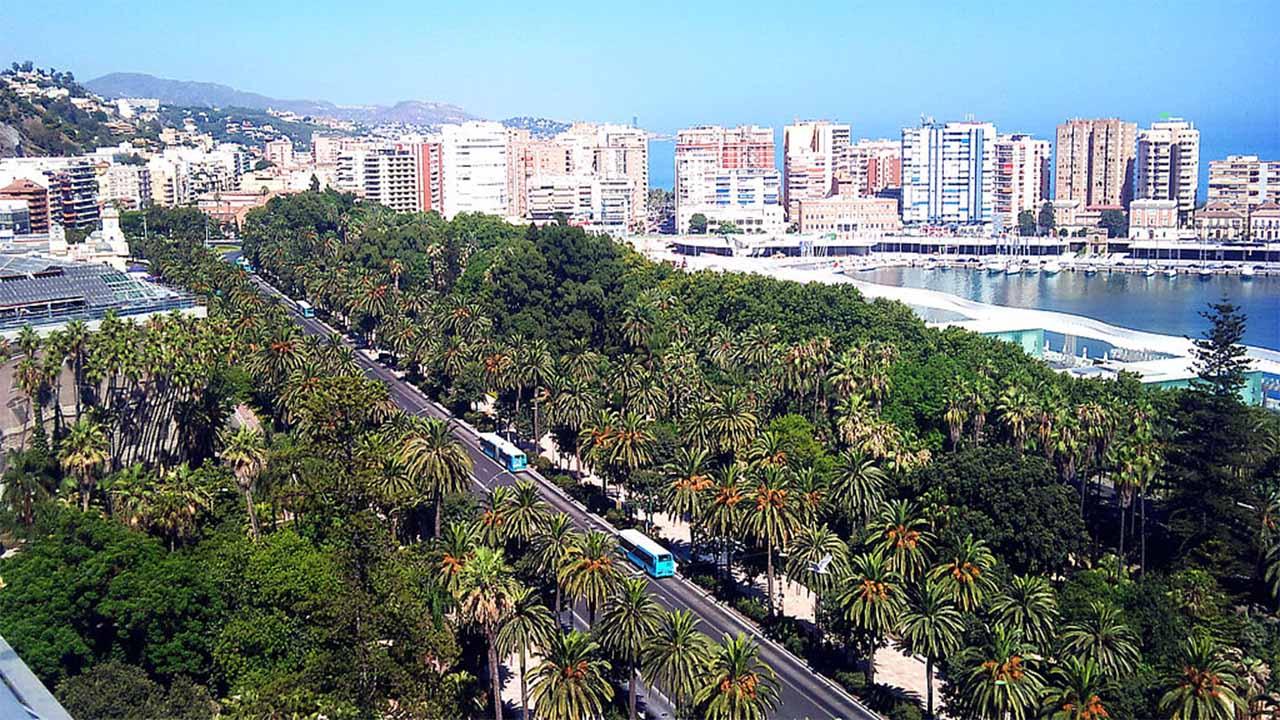 Vista del Parque de Malaga