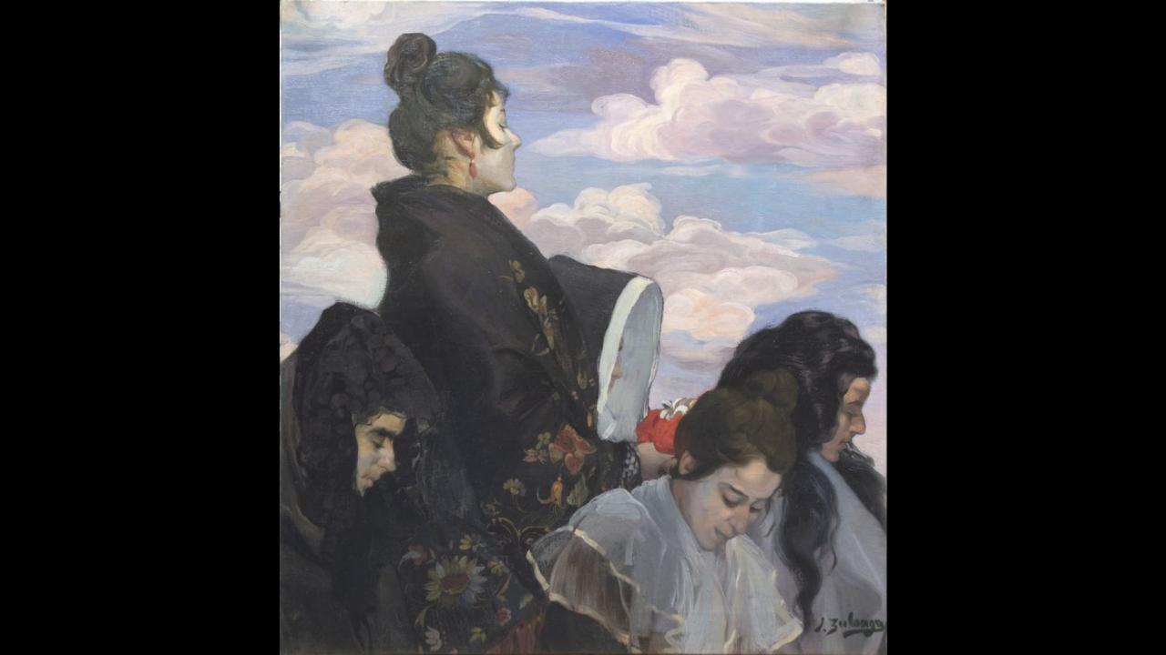 El Bellas Artes presenta la restauración de cuatro lienzos de Zuloaga