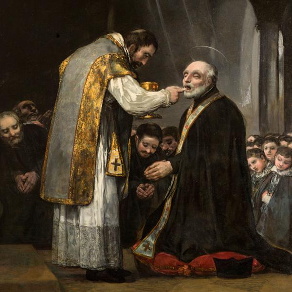 Goya: La última comunión de san José de Calasanz en Museo del Prado en Madrid