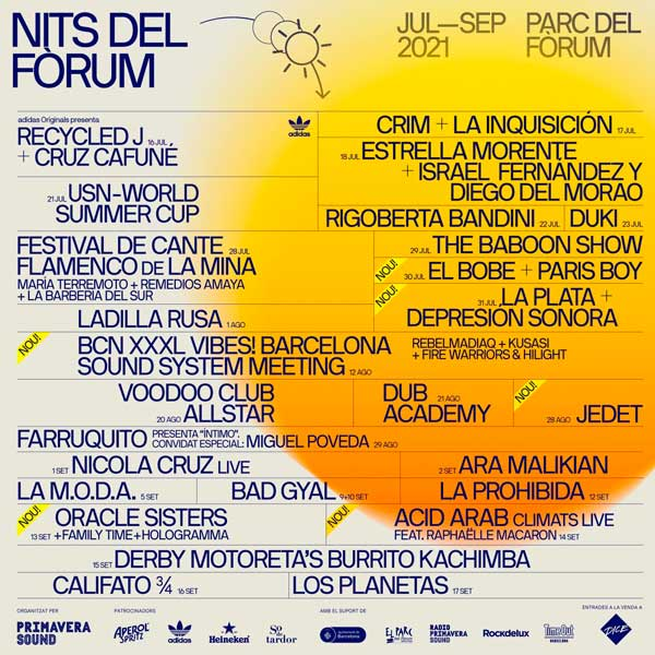 nits del forum primavera sound 2021