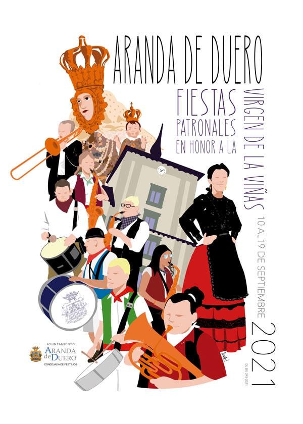 Cartel Fiestas de Aranda 2021 min
