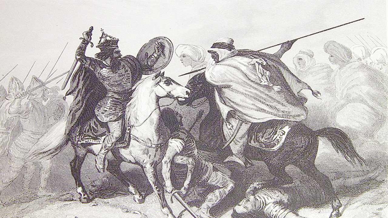 Ilustraciones pertenecientes al libro Las glorias nacionales
