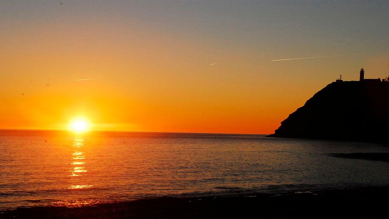 Puesta de sol desde la playa de Carchuna Motril Granada