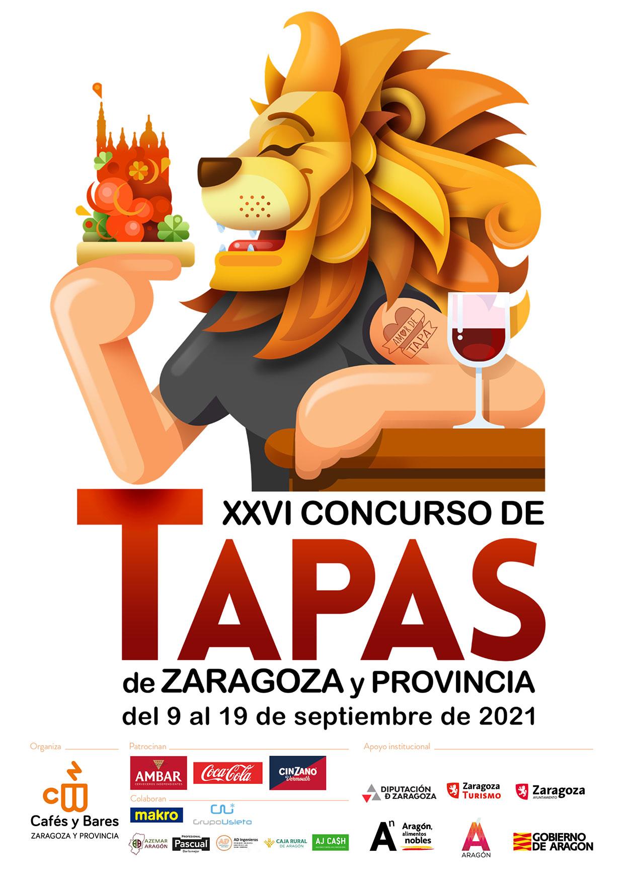 Cartel Concurso de Tapas de Zaragoza y Provincia wb
