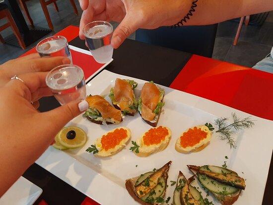 Caviar Rojo comida
