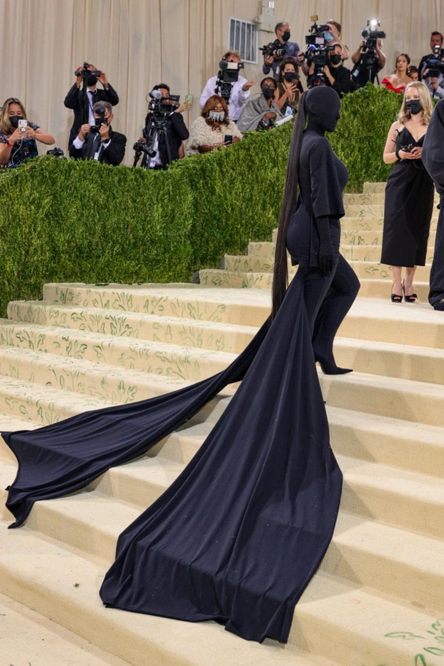 Kim Kardashian y su look en la Met Gala 2021